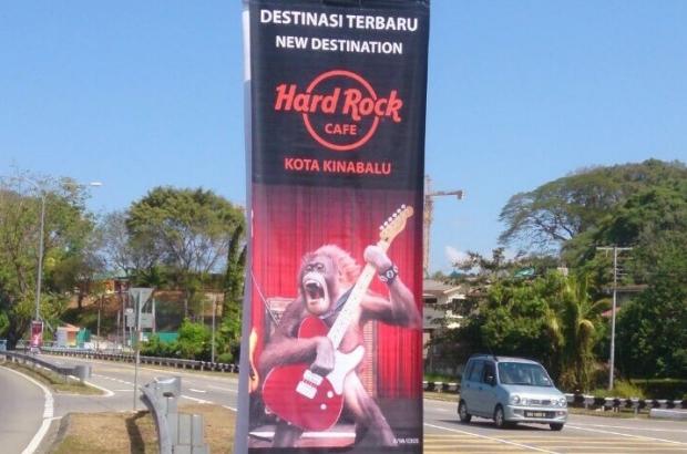 Poster Orang Utan hard Rock Kota KInabalu