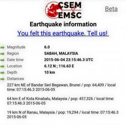 Info Awal- Gemap Bumi Sabah